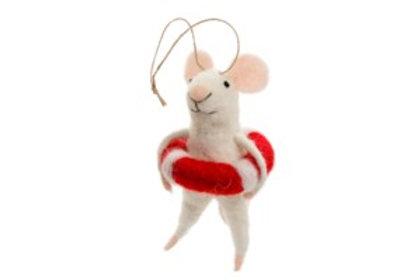 Mouse ornament - Lifeguard Lily