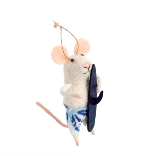 Mouse ornament - Surf's Up Sal