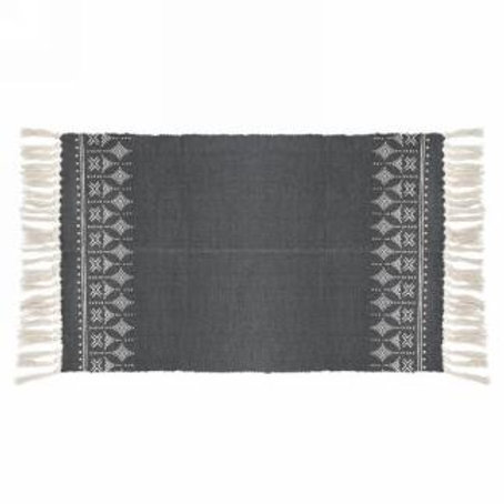 """Carpet - dark grey, natural print   42""""x23"""""""