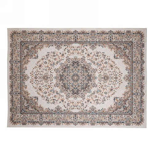 """Rug - classic beige floral.  44""""x63"""""""