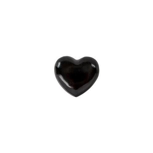 Soapstone heart, black