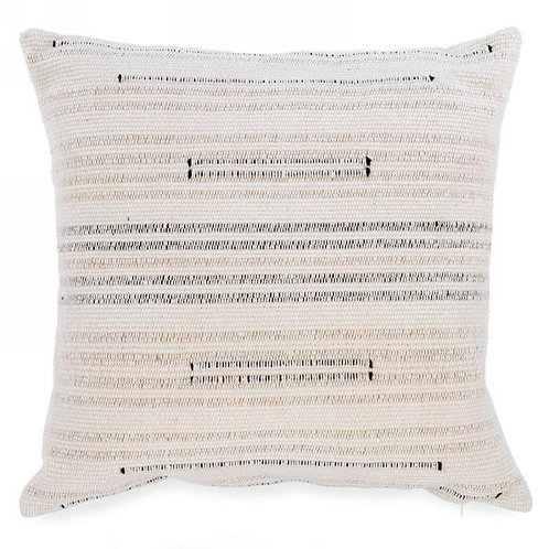 """Pillow - natural with stripes   17""""x17"""""""