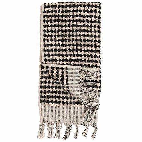 Turkish Towel - Popcorn Plush - Black