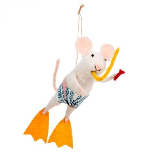 Mouse ornament - Scuba Steve