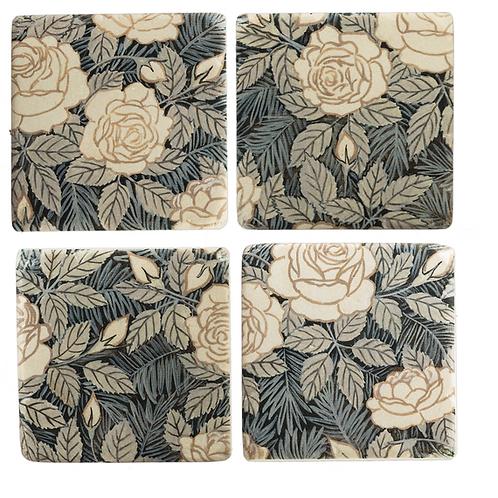 Coaster set (4) - floral