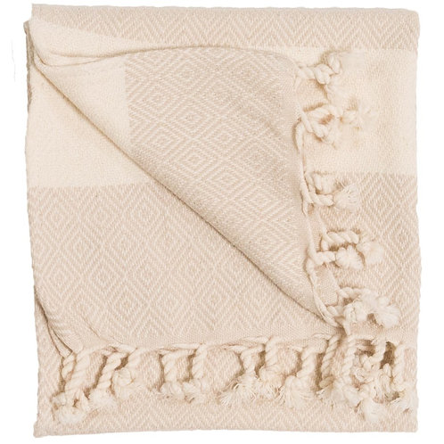 Turkish Handtowel - Diamond - Cream