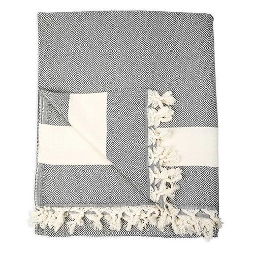 "Blanket - ""Diamond""  (slate color)"