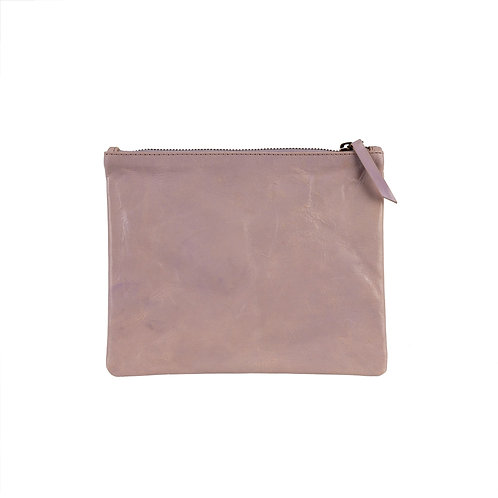 Leather Pouch - Lilac