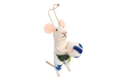 Mouse ornament - Volleyball Vince