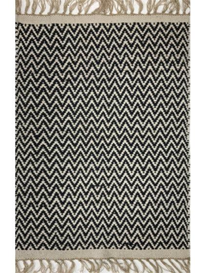 Rug - 3'x5'  Black/white  #4283