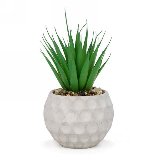 Artificial plant in round pot