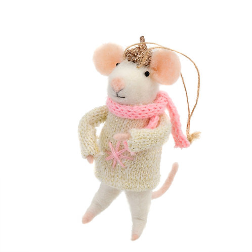 Mouse ornament - Bundled Up Betty