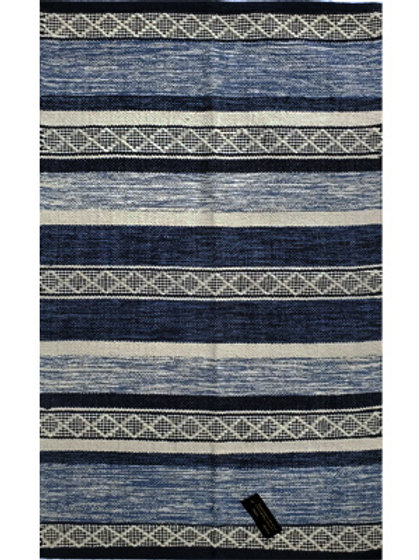 Rug - 2.3'x4'  blue/off-white   #2005