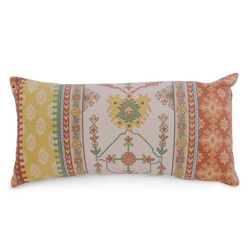 Pillow - lumbar, orange & yellow motif