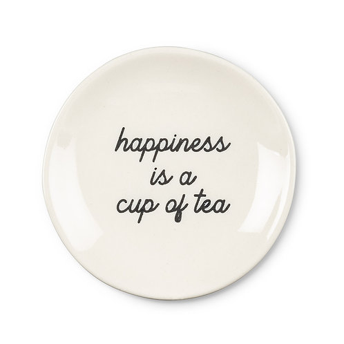 """Plate """"Happiness is a cup of tea"""""""