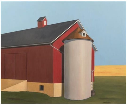 """The alleged $200,000 Crawford painting titled """"Smith Silo."""""""