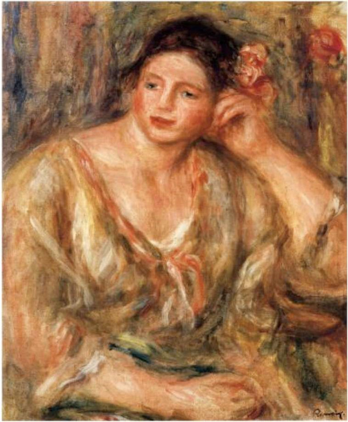 SPOTLIGHT: Renoir's Madeleine Leaning on Her Elbow with Flowers in Her Hair