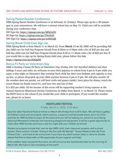 HMS Newsletter 20200211