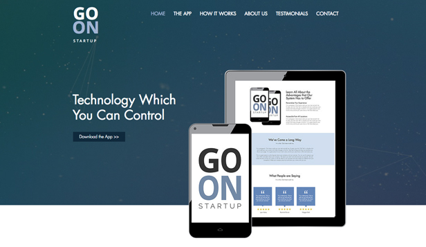 Technology & Apps website templates – Start Up