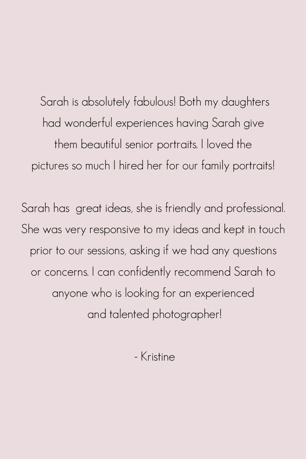 Photographer Reviews Madison