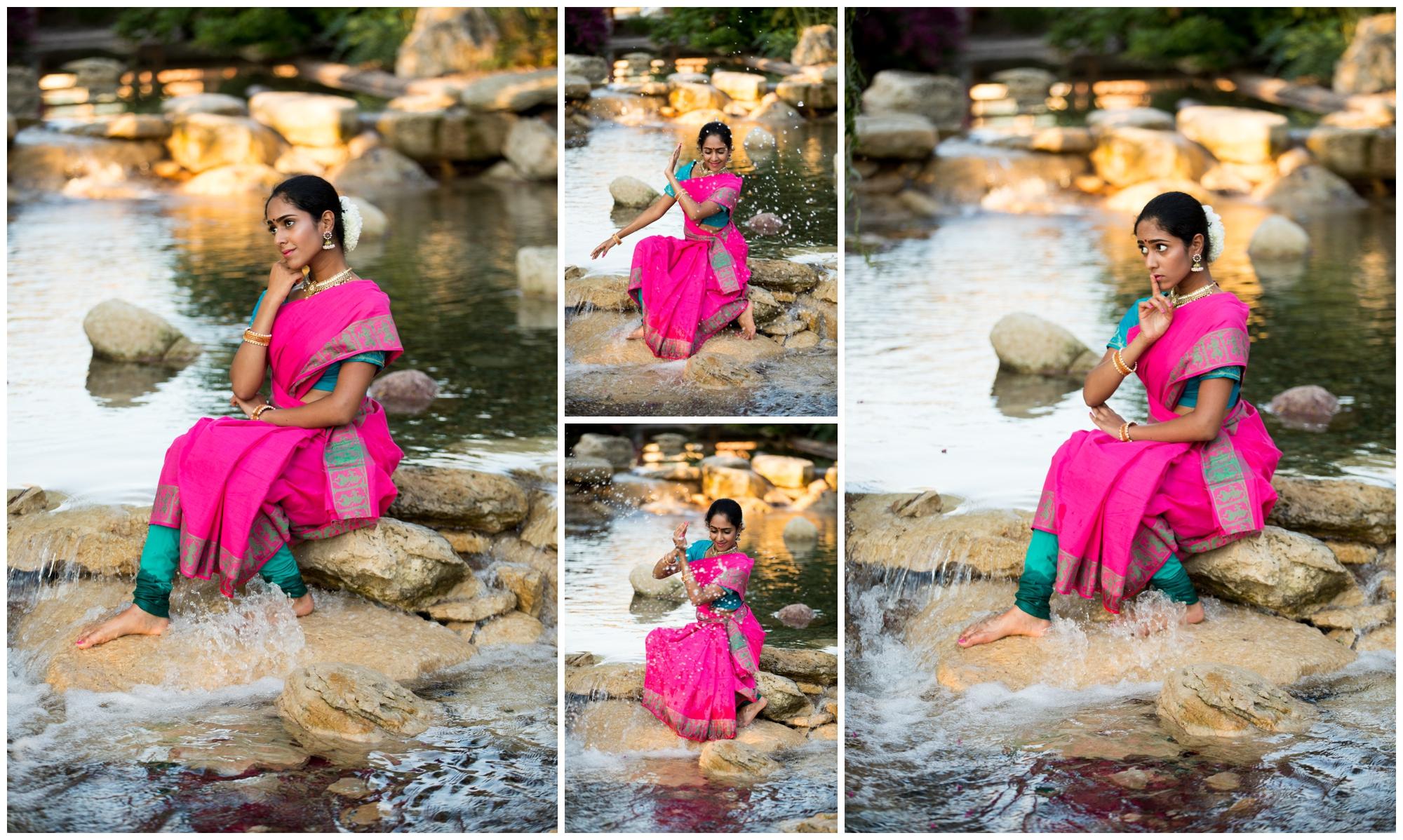 Bharatanatyam dance portraits