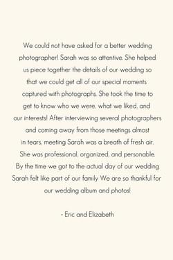 Wedding Photographer Reviews WI