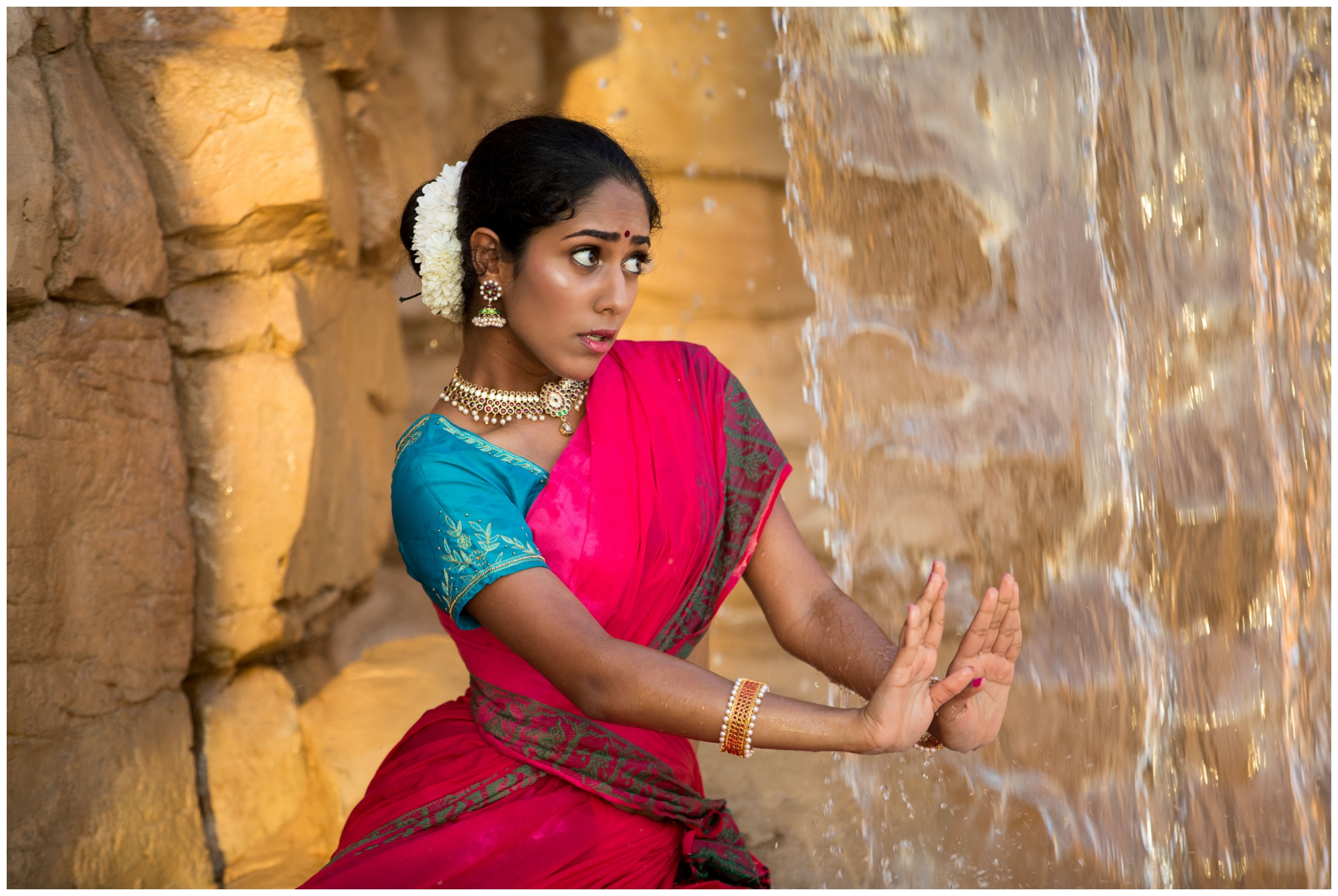 Bharatanatyam emotion dance portrait