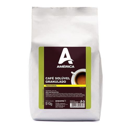 CAFE SOLÚVEL GRANULADO AMÉRICA - 10 PACOTES DE510GR
