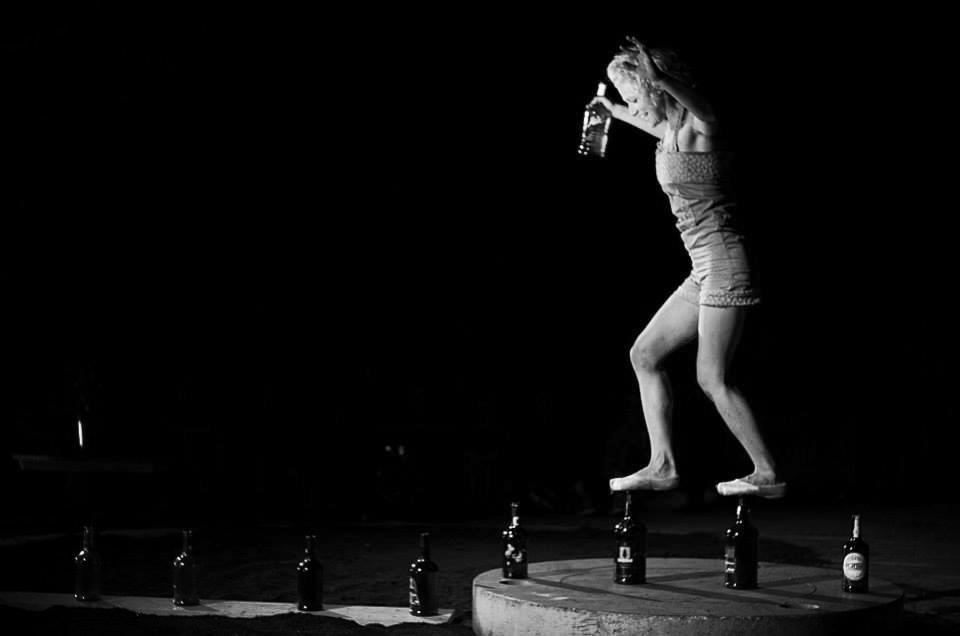 bottles walking