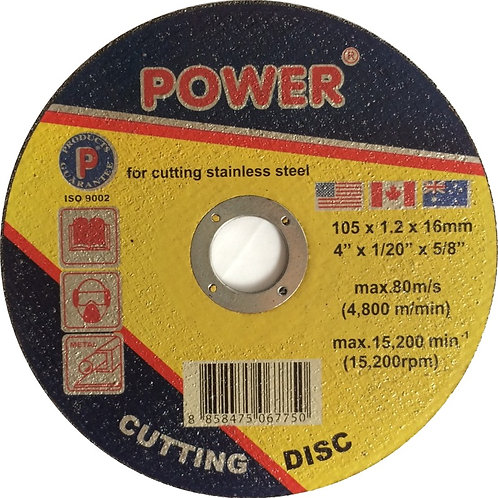 """แผ่นตัดเหล็ก-สแตนเลส 4"""" POWER"""