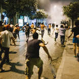 Garbage Protest - Evening Clashes
