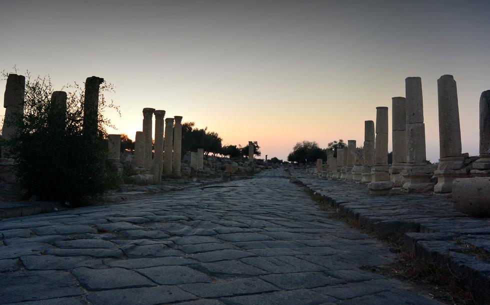 Sunset on the Decumanus