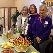 April Hostesses: Linda Wagenbach, Sandy Ahrens and Linda Olson