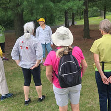 August: Club members tour the Cowling Arboretum at Carleton College
