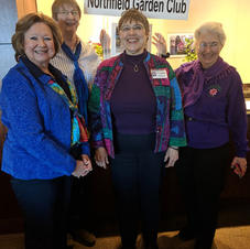 2019 Board Officers (From Left to Right: VP Donna Jackson; Sec'y Erika Tallman; Pres. Elizabeth Olson; Past. Pres. Lorraine Rovig. Not shown are Treasurer Sharon Detert and Co-Sec'y Mary Jones))