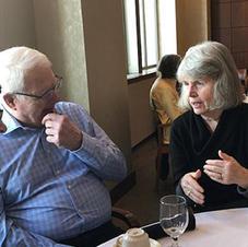 Guest Bill Burmeister & Judy Code, Bridge Square committee chair