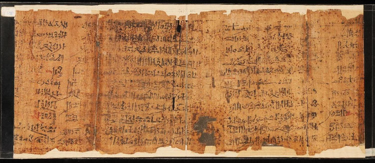 19th Dynasty copy of the Ipuwer Papyrus (known as The Lamentations of Ipuwer or The Admonitions of Ipuwer)