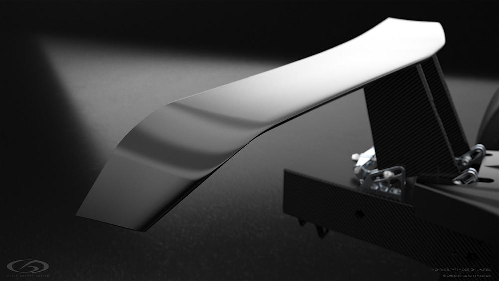 CBD Rendering of final SSW wing design