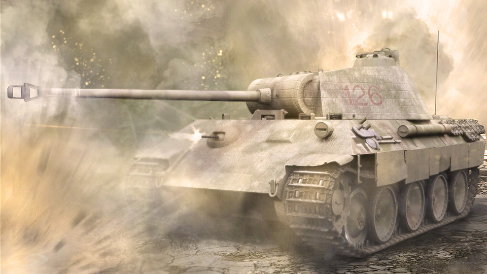 Tank 3D Illustration Panther