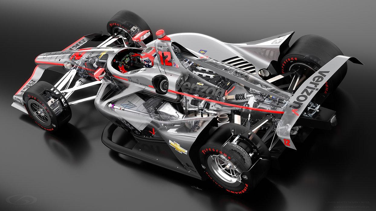 Cutaway IndyCar