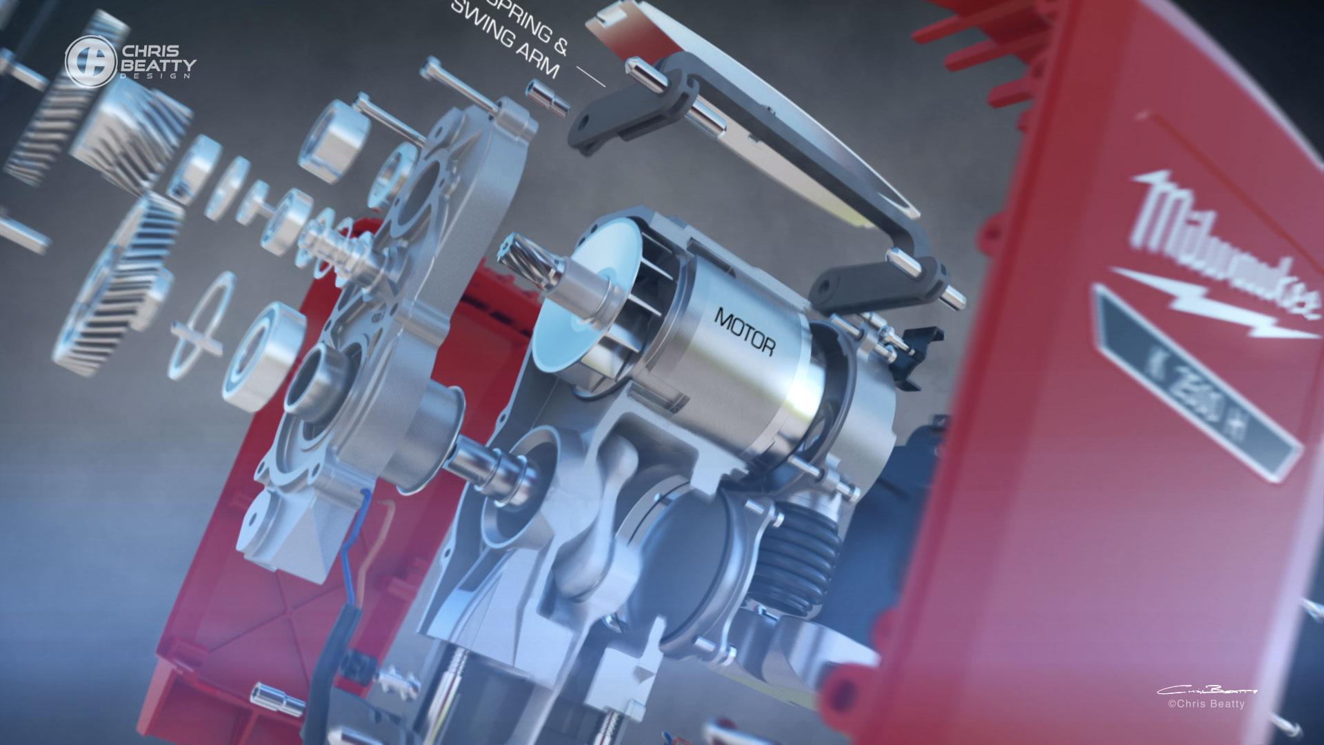 Pneumatic Drill Animation