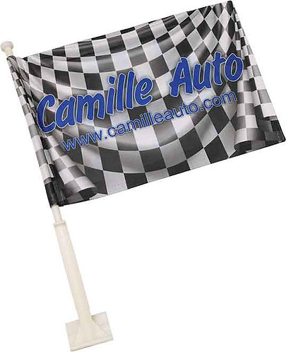 Full Color Car Flag - Double Sided