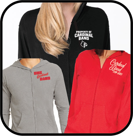 OHS Band - 6491 - Unisex Sueded Full-Zip Hoody