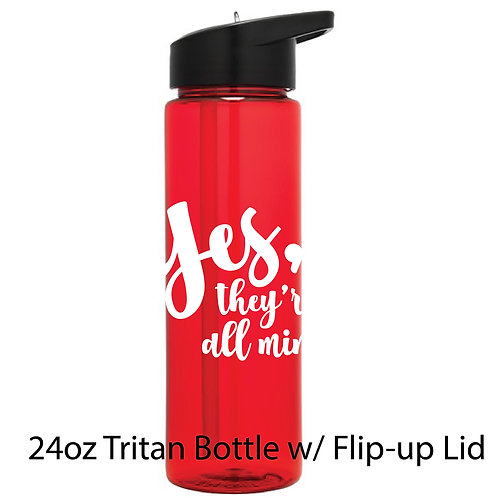 FH 24oz Tritan Bottle w/ Flip-up Lid w/Custom Art