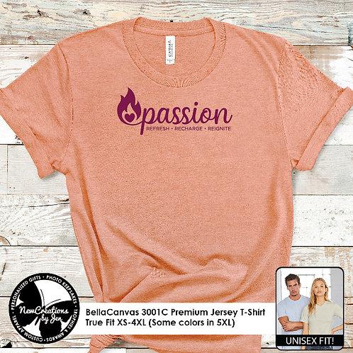PASSION - 3001C BellaCanvas Premium T-Shirt