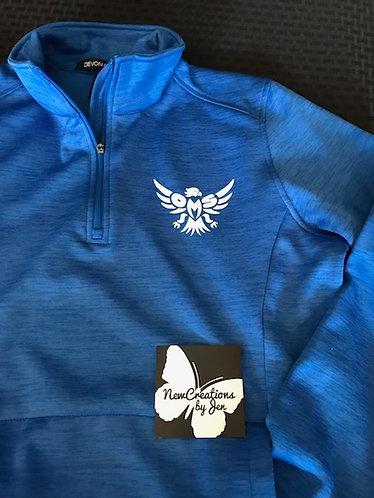 Falcon Fan Ladies' Newbury Mélange Fleece Quarter-Zip DG798W