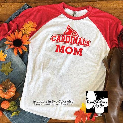 Cardinal Fan Unisex Raglan Baseball T-Shirt (6051)