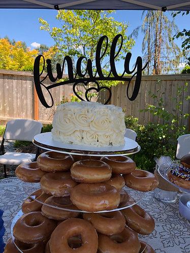 Wedding Cake Topper - Glitter