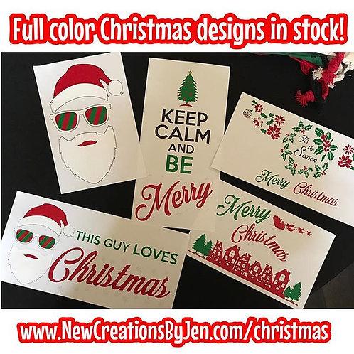 Full Color Christmas Shirts & crewnecks