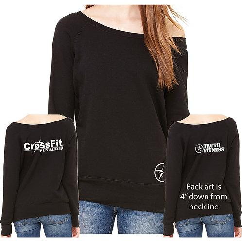 TF 7501 Bella Canvas Ladies' Sponge Fleece Wide Neck Sweatshirt